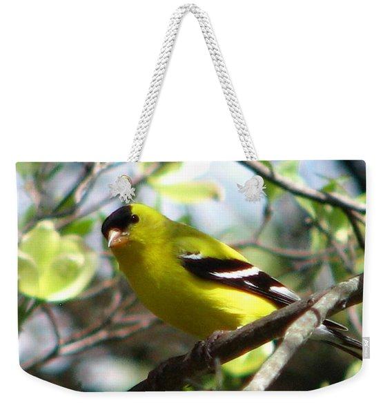 Goldfinch Spring Weekender Tote Bag