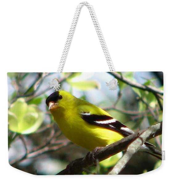 Goldfinch Spring Weekender Tote Bag