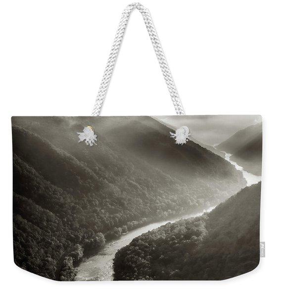Grandview In Black And White Weekender Tote Bag