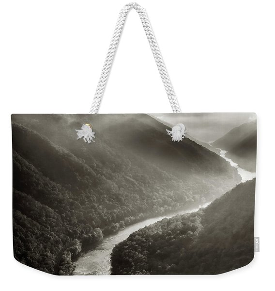 Grandview In Black And White Weekender Tote Bag