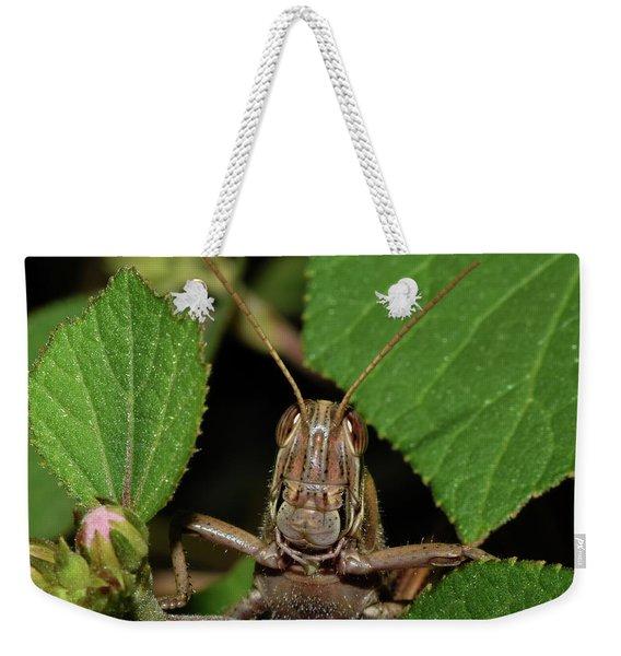 Grasshopper Weekender Tote Bag