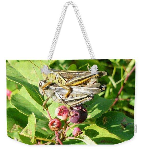 Grasshopper Love Weekender Tote Bag