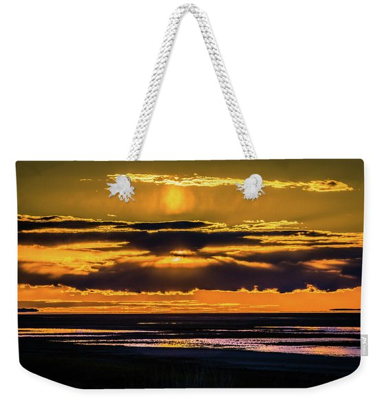 Great Salt Lake Sunset Weekender Tote Bag
