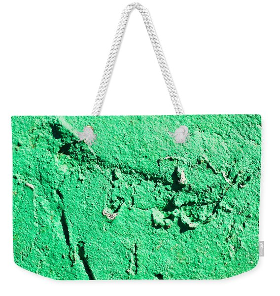 Green Background Weekender Tote Bag