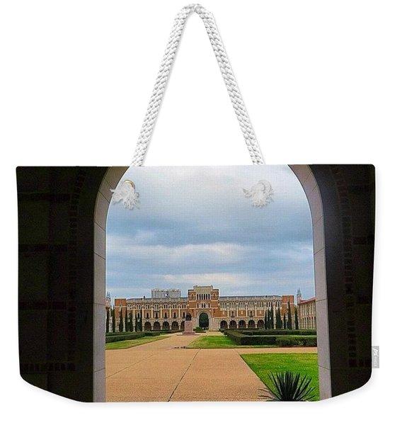 Greetings From Rice University. #framed Weekender Tote Bag