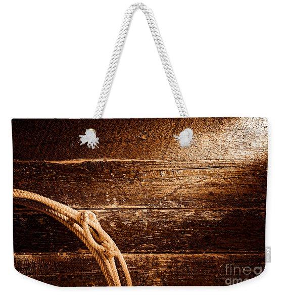 Grunge Lasso - Sepia Weekender Tote Bag