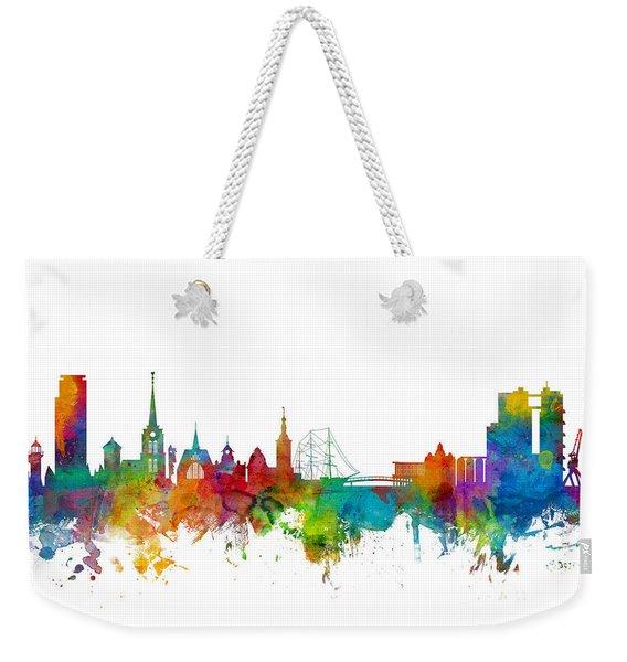 Halmstad Sweden Skyline Weekender Tote Bag