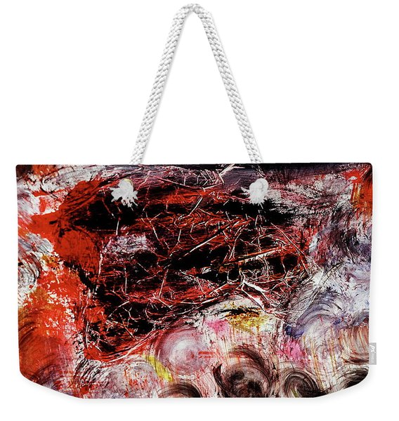 Weekender Tote Bag featuring the painting Harmony by Michael Lucarelli