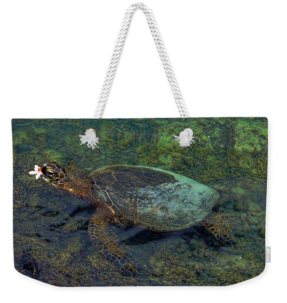 Hawaiian Sea Turtle Weekender Tote Bag