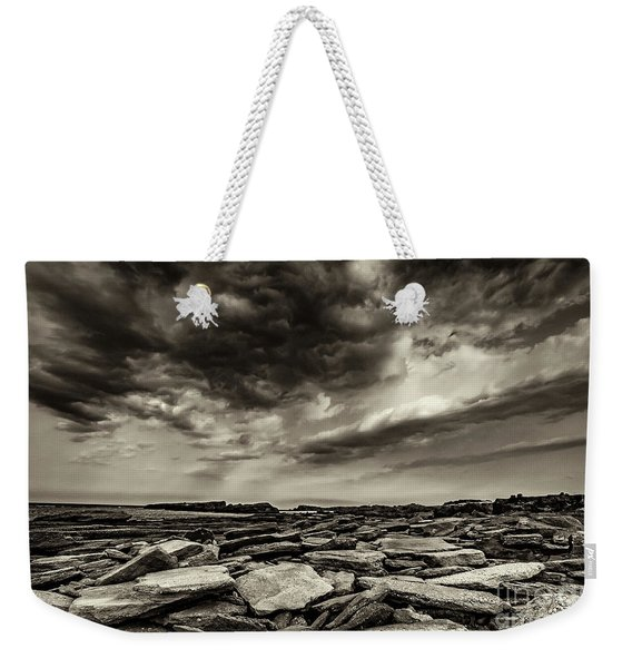 Weekender Tote Bag featuring the photograph Here Comes The Storm 06 by Arik Baltinester