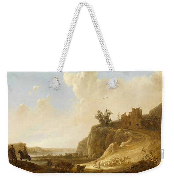 Hilly Landscape With The Ruins Of A Castle Weekender Tote Bag