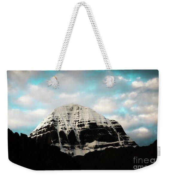 Holy Kailas East Slop Himalayas Tibet Yantra.lv Weekender Tote Bag