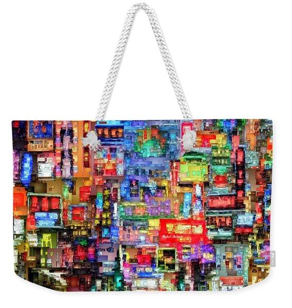 Hong Kong City Nightlife Weekender Tote Bag