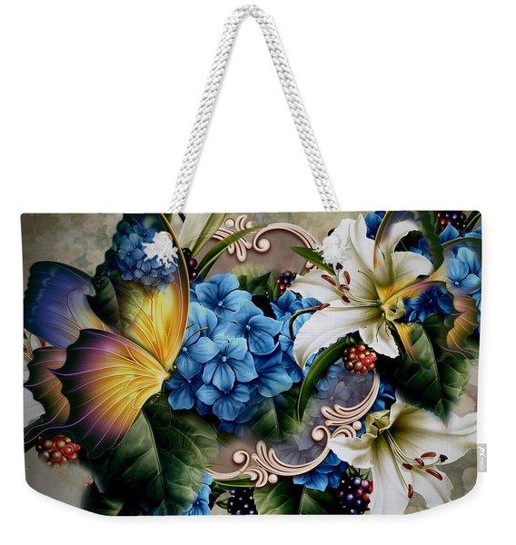 Hydrangea Bouquet Weekender Tote Bag
