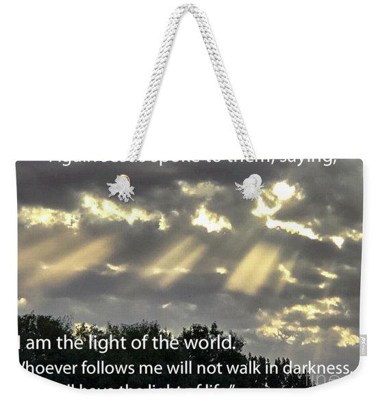 I Am The Light  Weekender Tote Bag