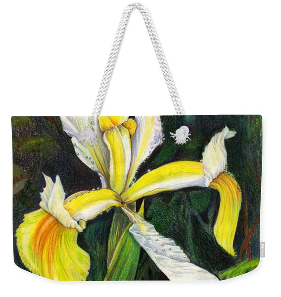 Weekender Tote Bag featuring the drawing I Rise To Thee by Nancy Cupp