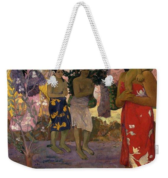 Ia Orana Maria Hail Mary Weekender Tote Bag