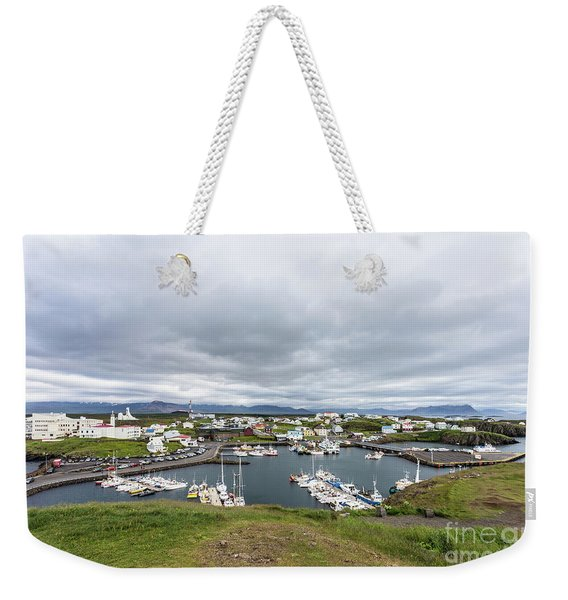 Iceland Fisherman Harbor Weekender Tote Bag