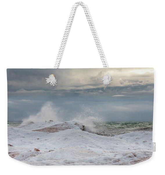 Icy Blast Weekender Tote Bag