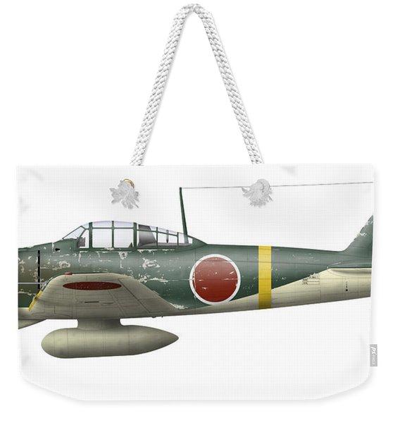 Illustration Of A Mitsubishi A6m2 Zero Weekender Tote Bag