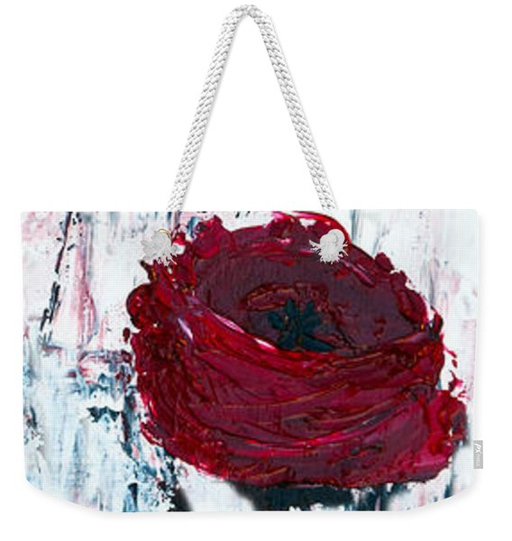 Weekender Tote Bag featuring the painting Impressionist Floral B8516 by Mas Art Studio