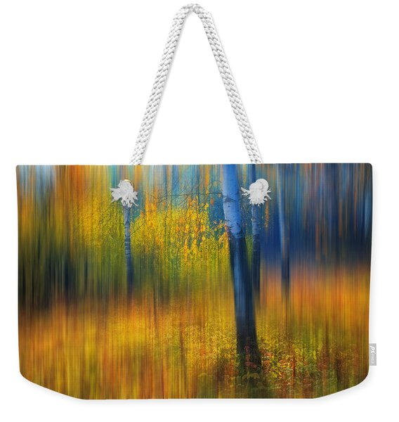 In The Golden Woods. Impressionism Weekender Tote Bag