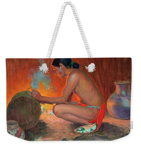 Indian By Firelight Weekender Tote Bag