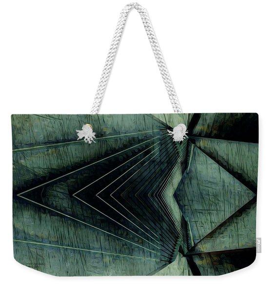 Industrial Bridge Grey Weekender Tote Bag