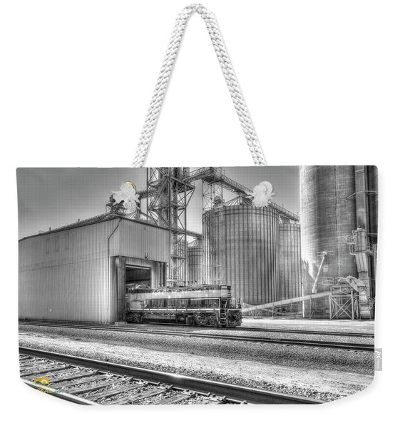 Weekender Tote Bag featuring the photograph Industrial Switcher 5405 by Jim Thompson
