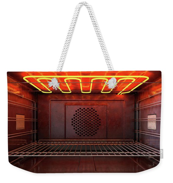 Inside The Oven Front Weekender Tote Bag
