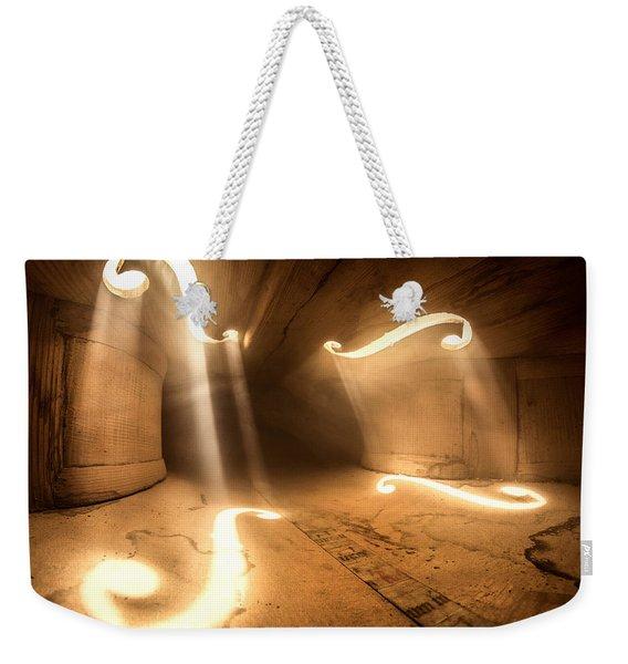 Inside Violin Weekender Tote Bag