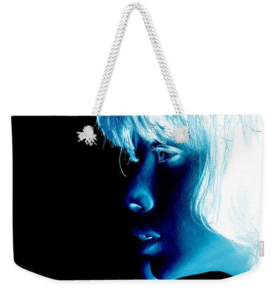 Inverted Realities - Blue  Weekender Tote Bag