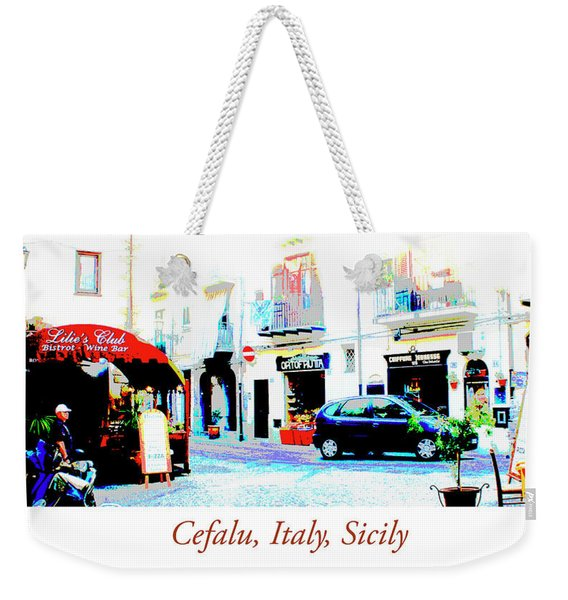 Italian City Street Scene Digital Art Weekender Tote Bag