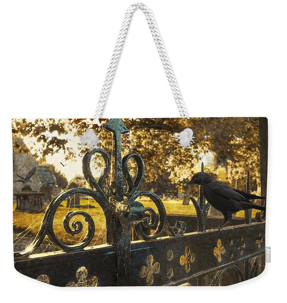 Jackdaw On Church Gates Weekender Tote Bag