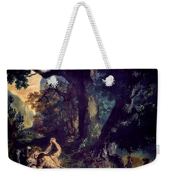 Jacob Wrestling The Angel Weekender Tote Bag