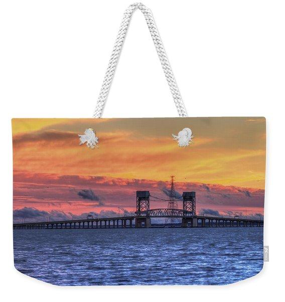 James River Bridge Weekender Tote Bag