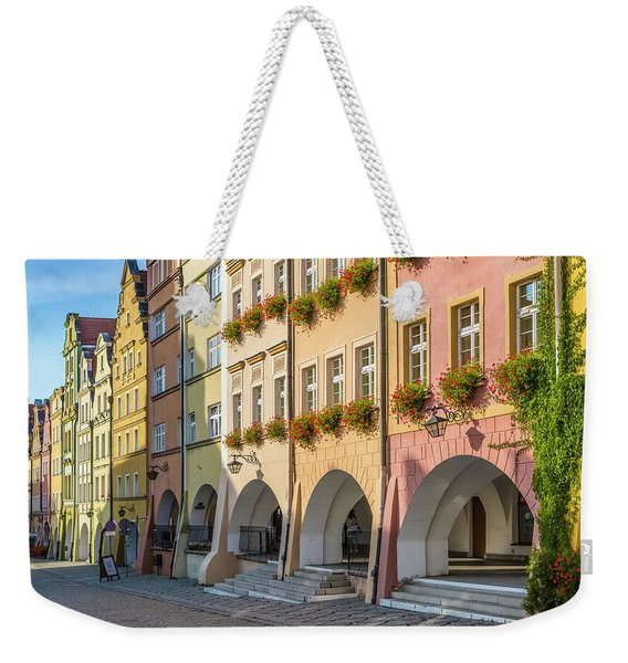 Jelenia Gora Baroque Tenement Houses With Arcades  Weekender Tote Bag