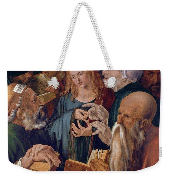Jesus Among The Doctors Weekender Tote Bag