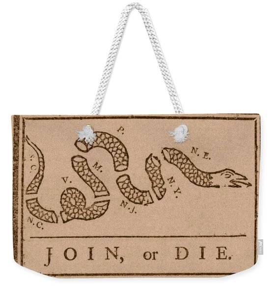 Join Or Die Weekender Tote Bag