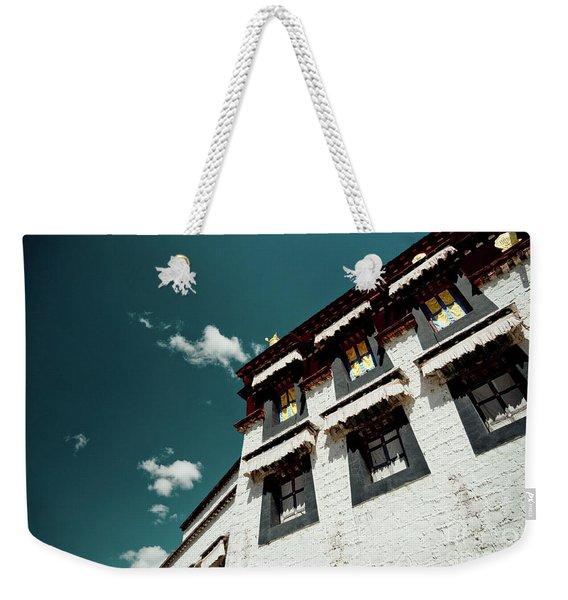 Jokhang Temple Wall Lhasa Tibet Artmif.lv Weekender Tote Bag