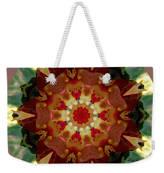Weekender Tote Bag featuring the digital art Kaleidoscope - Warm And Cool Colors by Deleas Kilgore