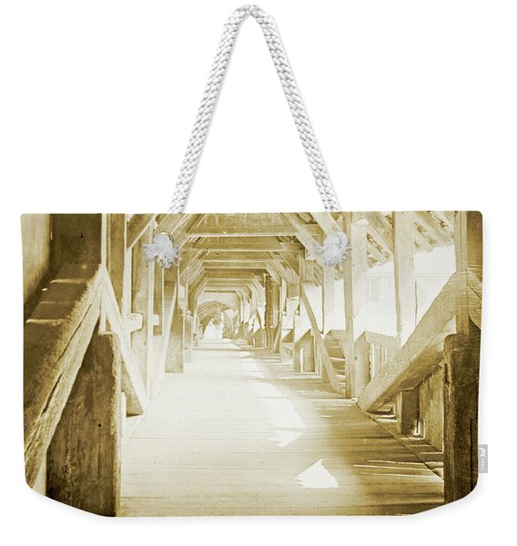 Kapell Bridge, Lucerne, Switzerland, 1903, Vintage, Photograph Weekender Tote Bag