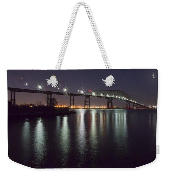 Key Bridge At Night Weekender Tote Bag