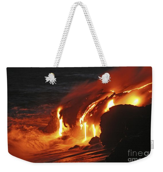 Kilauea Lava Flow Sea Entry, Big Weekender Tote Bag