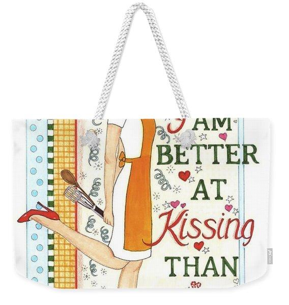 Kissing Cooking Weekender Tote Bag