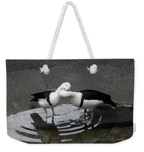 Kissing Ducks Weekender Tote Bag