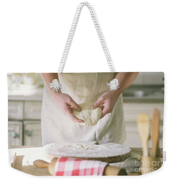 Kneading And Making Dough Weekender Tote Bag