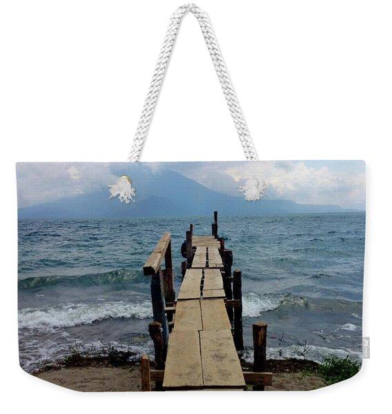 Lake Atitlan Dock Weekender Tote Bag
