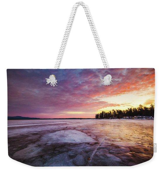 Lake Ice Weekender Tote Bag
