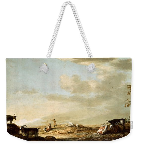 Landscape With Cattle And Figures Weekender Tote Bag